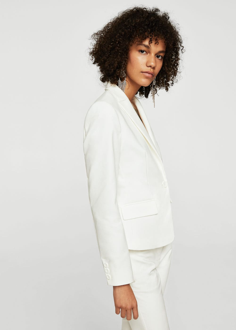 Essential cotton-blend blazer | MANGO