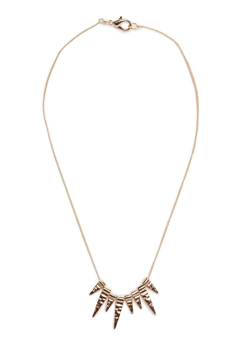 Embossed spike necklace | MANGO