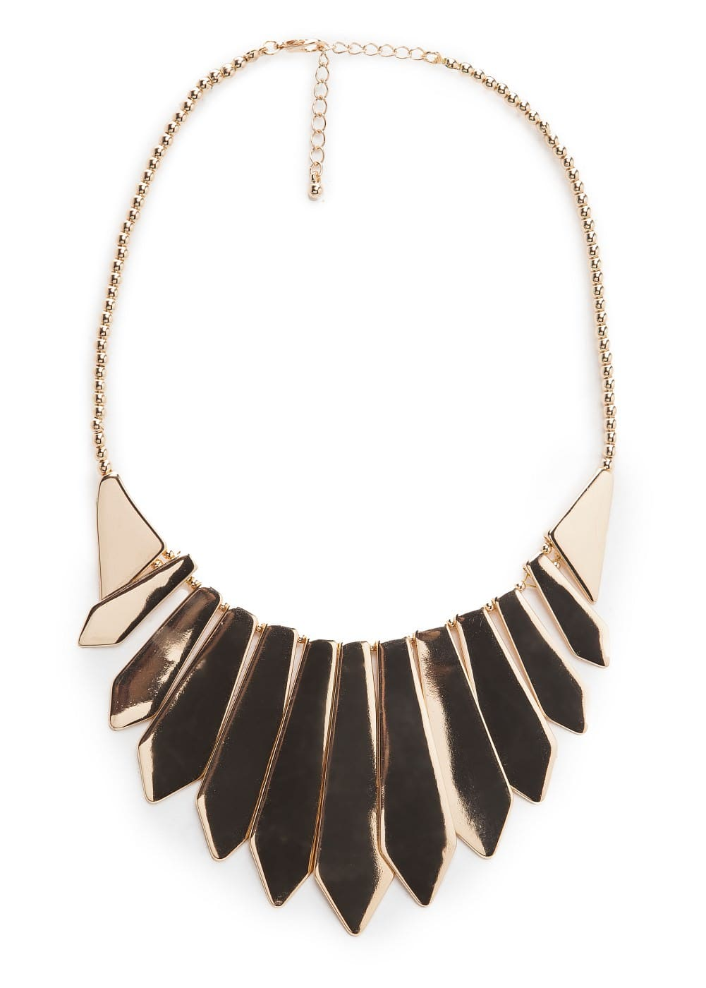 Metal plaque choker | MANGO