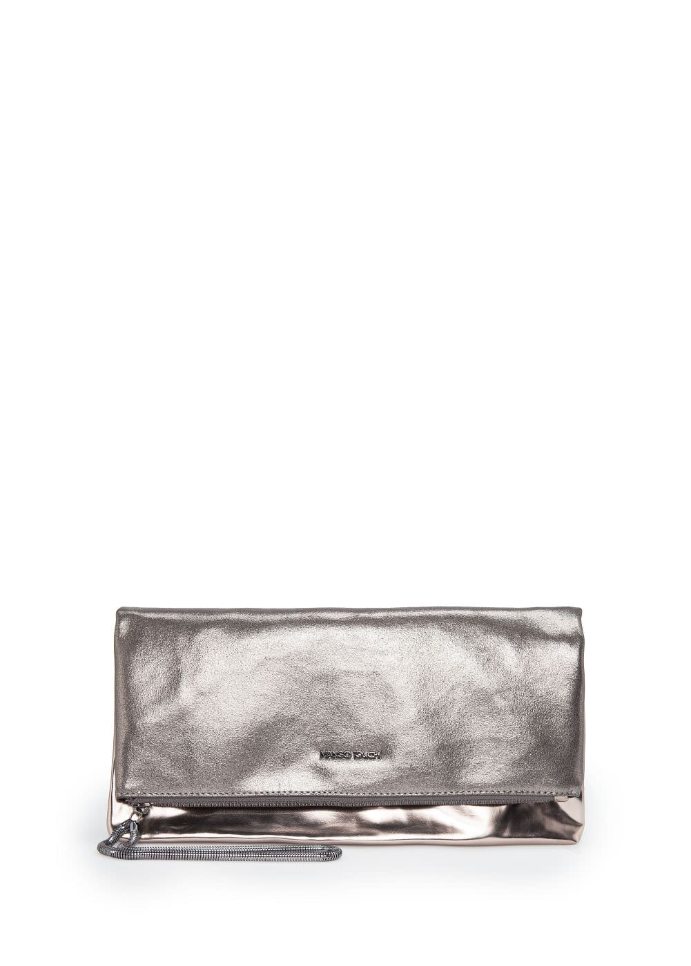 Metallic folded clutch | MANGO