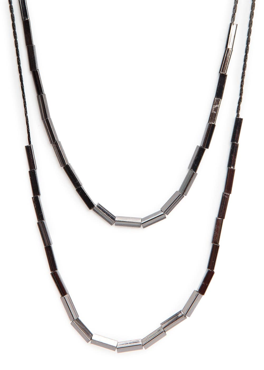 Double chain beaded necklace | MANGO
