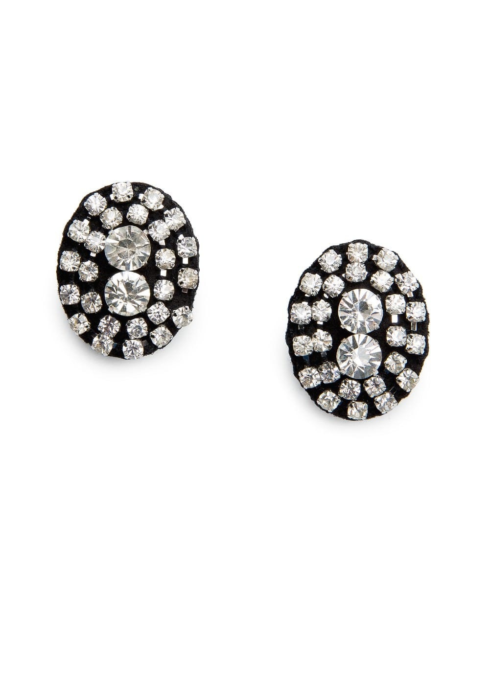 Rhinestone felt earrings | MANGO