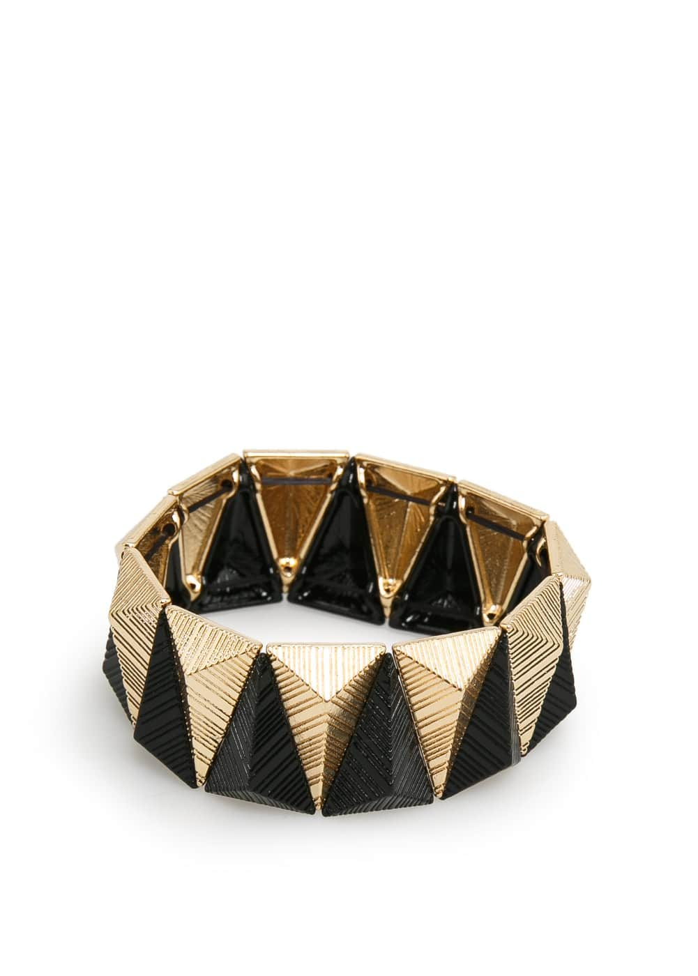 Triangular bead bracelet | MANGO