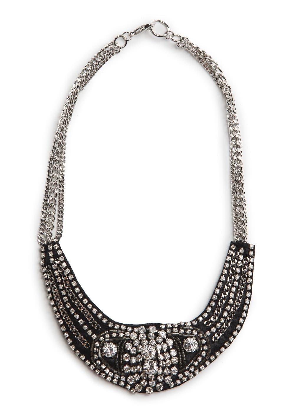 Rhinestone bib necklace | MANGO