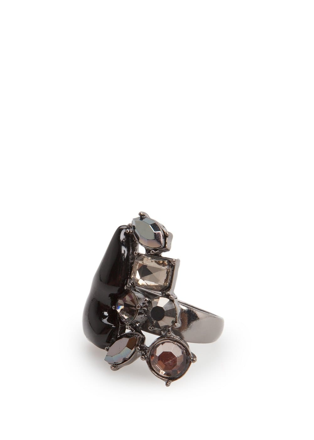 Faceted crystal ring | MANGO