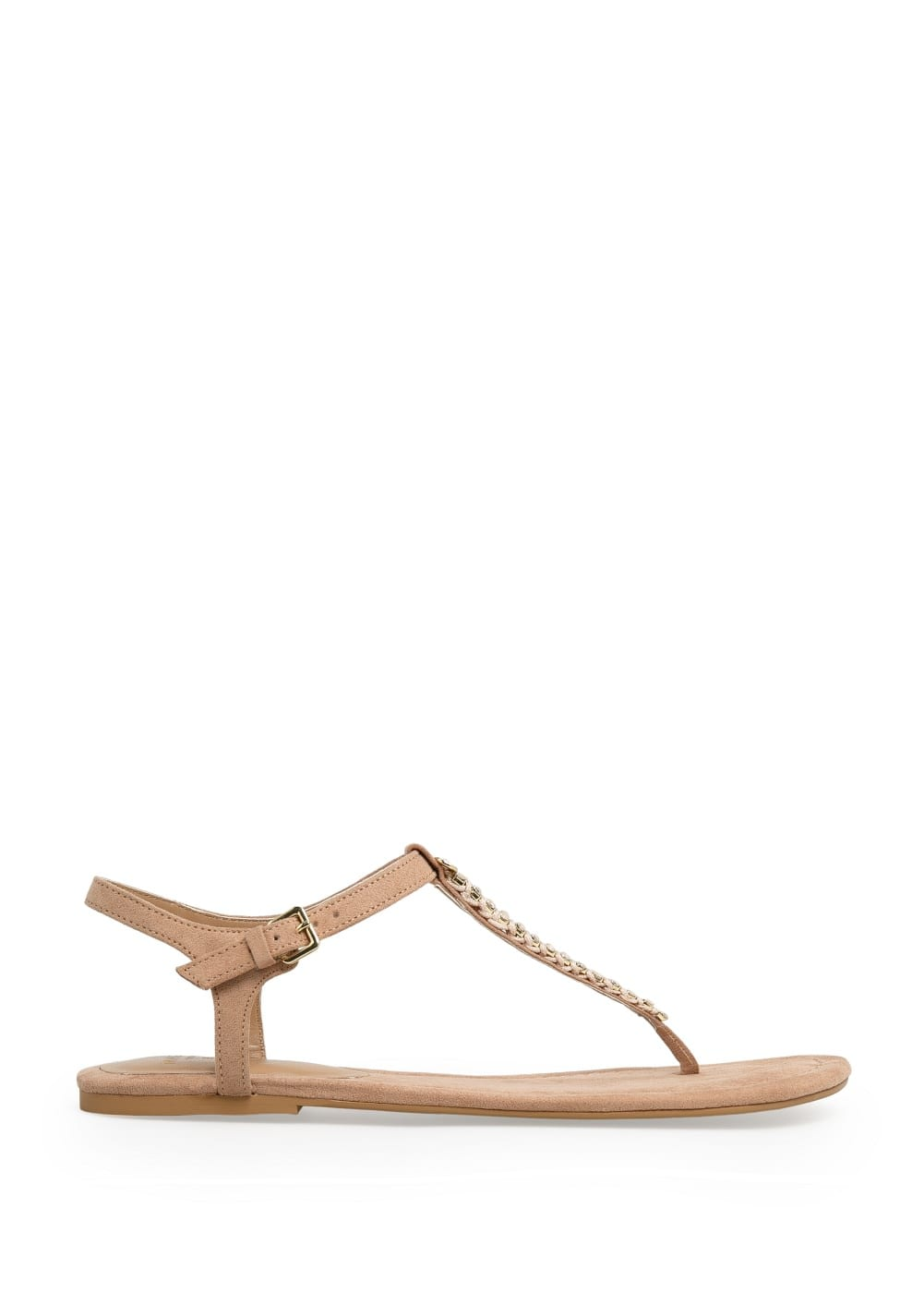 Crystal t-bar sandals | MANGO