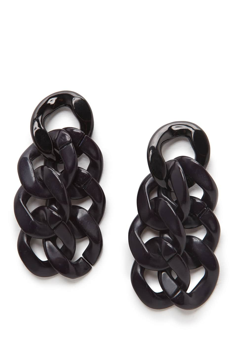 Flat link earrings | MANGO