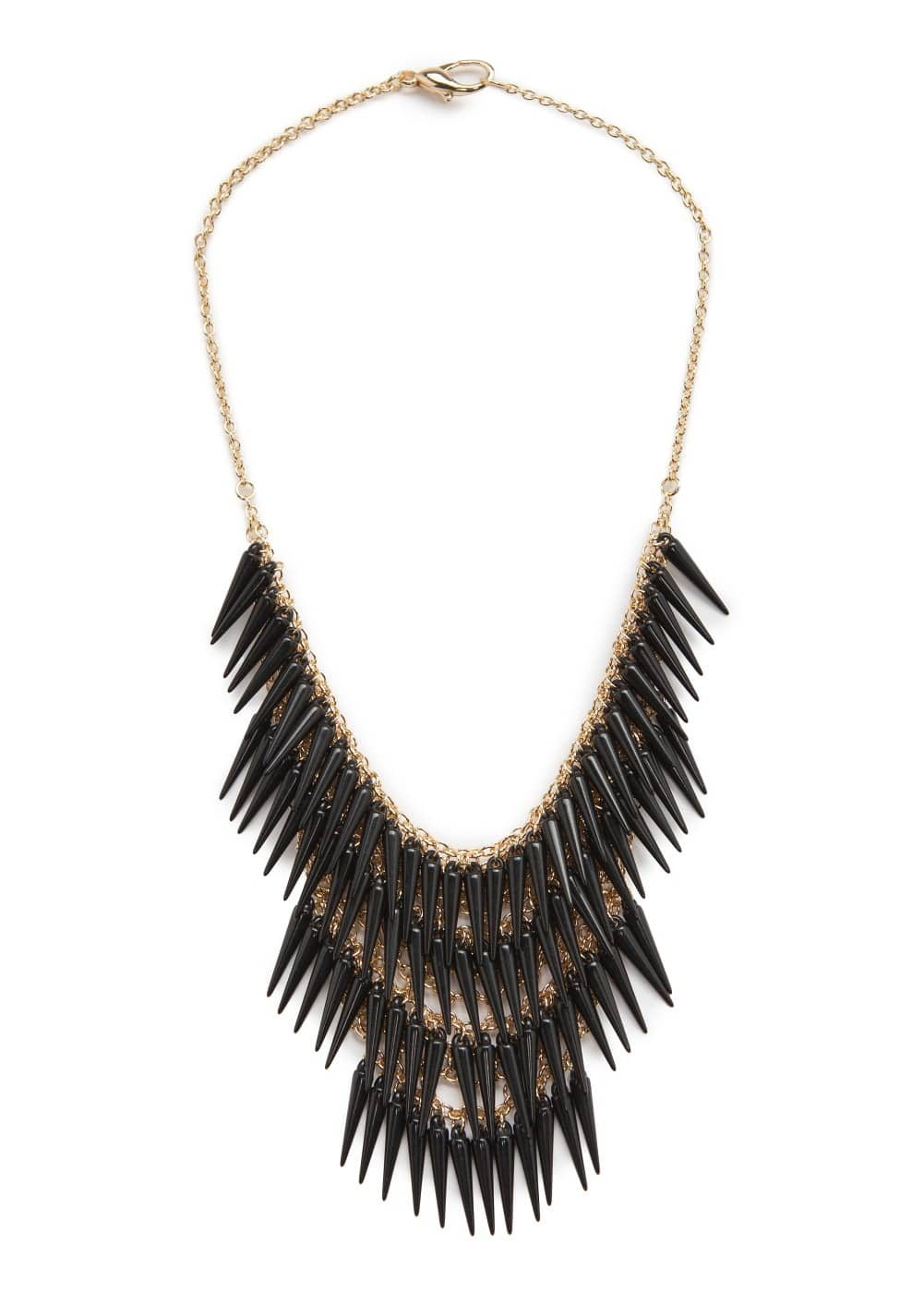 Fang waterfall necklace | MANGO