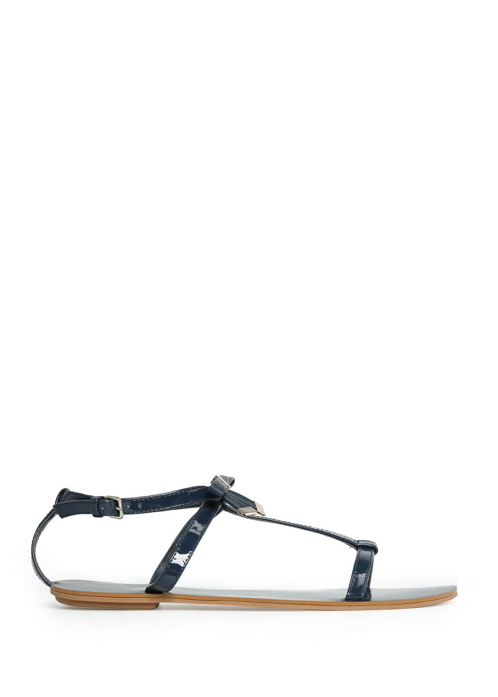 Bow t-bar sandals | MANGO