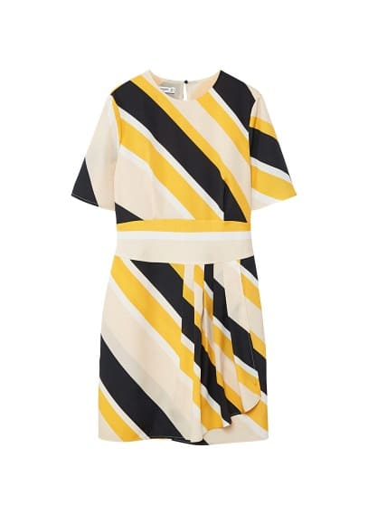 MANGO Cut-out striped dress