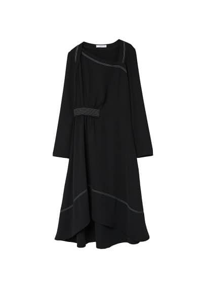 MANGO Contrast seam dress