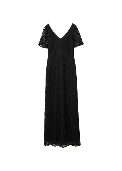 MANGO Lace detail gown