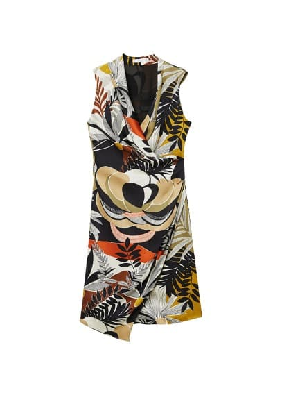 MANGO Printed chiffon dress