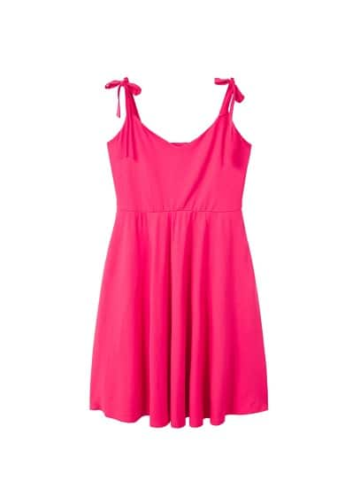 Violeta BY MANGO Strap flared dress