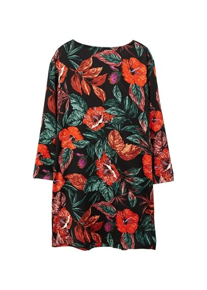 MANGO Floral pattern dress