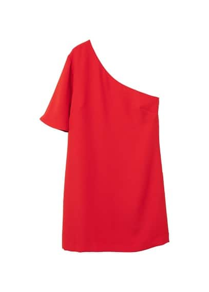 MANGO Asymmetrical sleeve dress