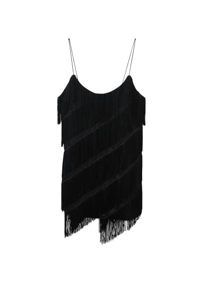 MANGO Fringe dress