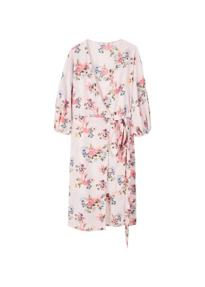 MANGO Floral chiffon dress