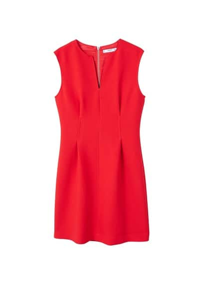 MANGO V-neckline dress