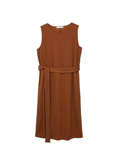 MANGO Textured bow dress