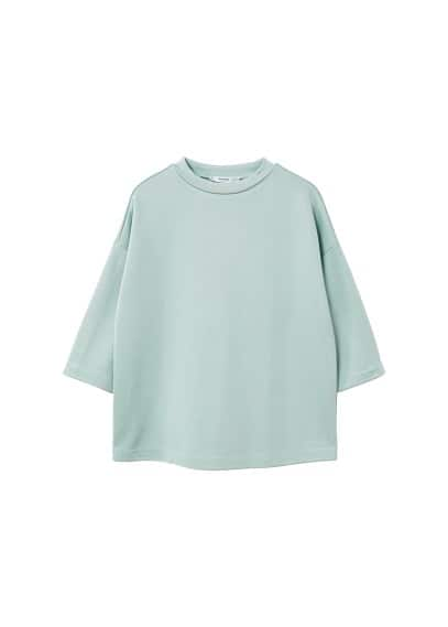 MANGO Shoulder seam t-shirt