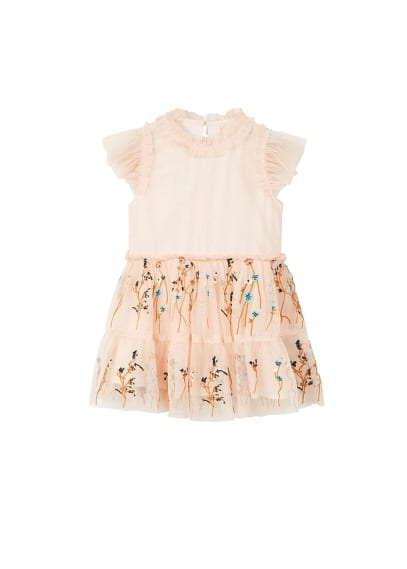 Robe tulle broderie florale
