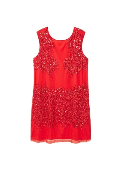 Violeta BY MANGO Sequin beaded dress