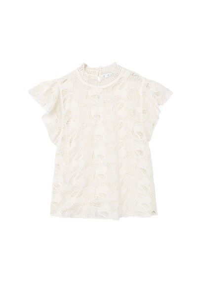 MANGO Lace panel t-shirt