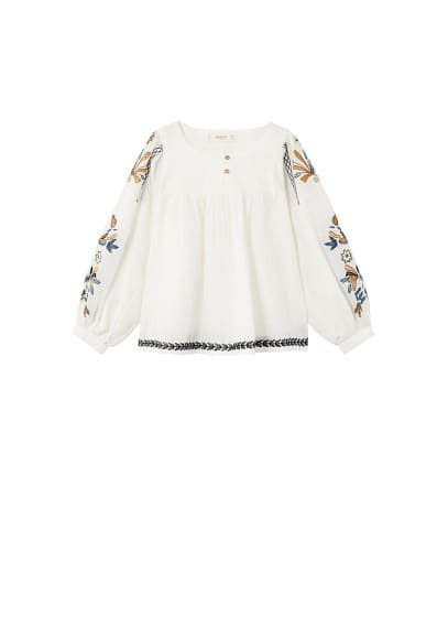 Blouse broderie florale