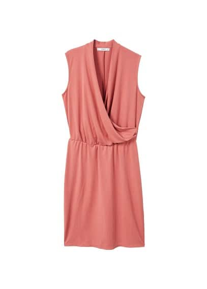 MANGO Ruched detail dress