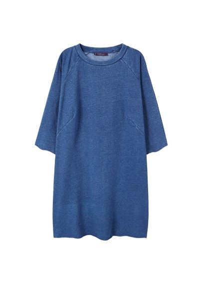Violeta BY MANGO Lurex sweatshirt dress