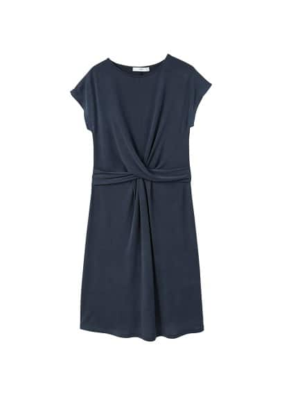 MANGO Knotted modal-blend dress