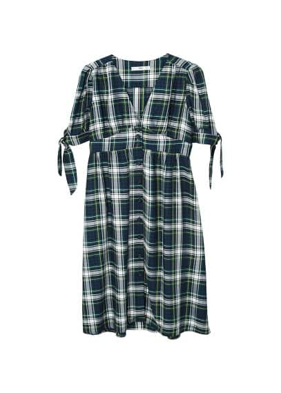 MANGO Check pattern midi dress