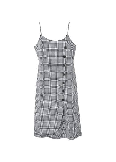MANGO Buttoned check dress