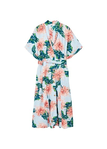 MANGO Belt floral dress