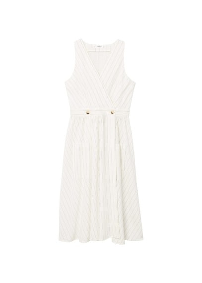 MANGO Pinstripe print dress