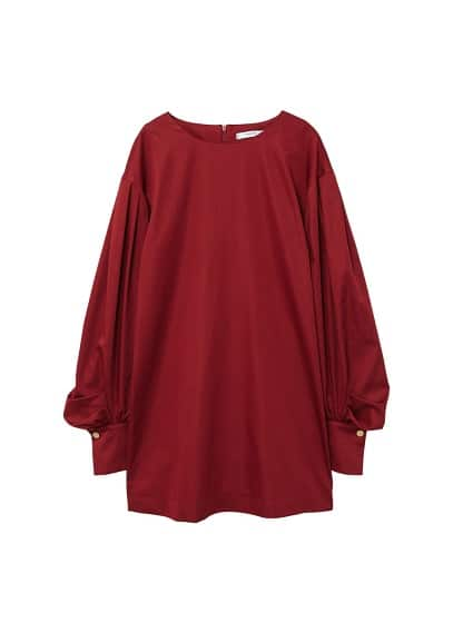 MANGO Puffed sleeves dress