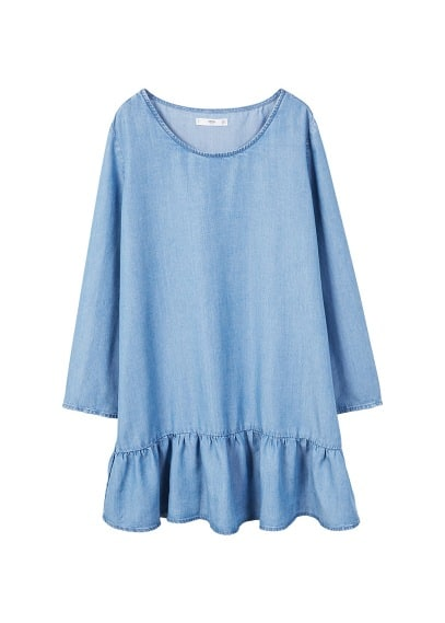 MANGO Frills denim dress