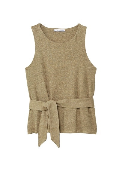 MANGO Bow textured top