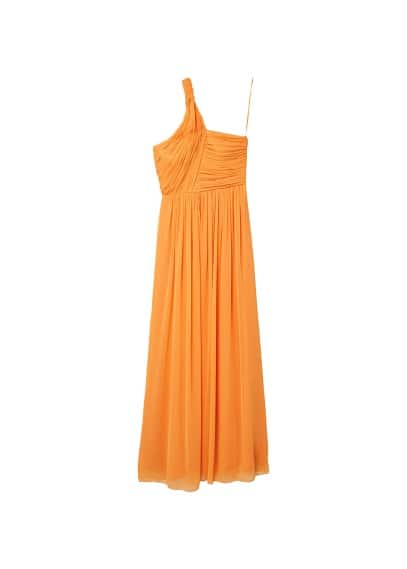 MANGO Asymmetric draped gown
