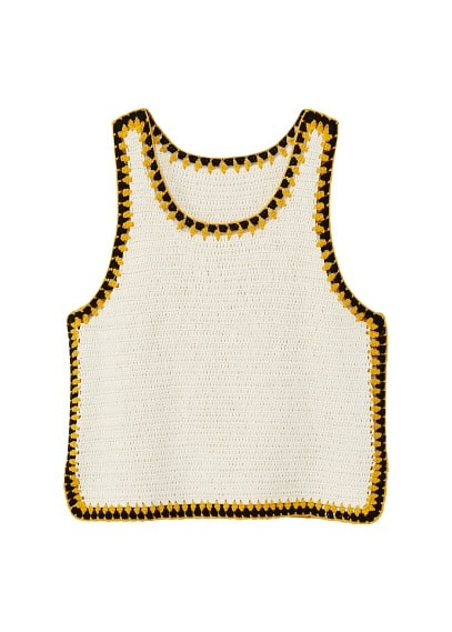 MANGO Trims crochet top