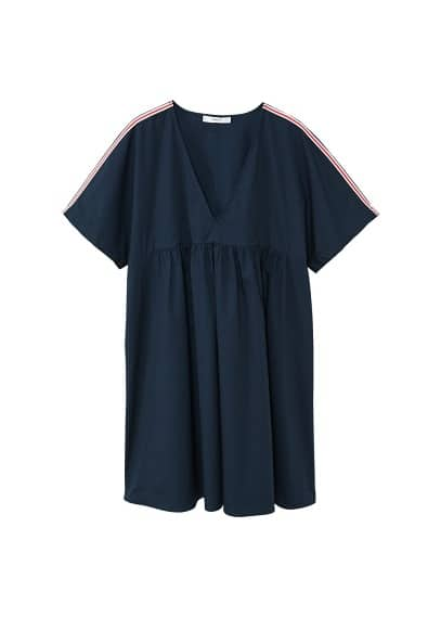 MANGO Contrast trim dress