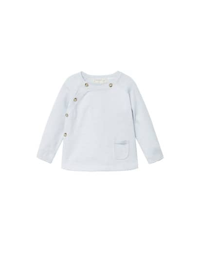 Pull-over coton boutons