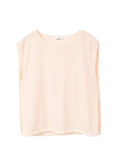 MANGO Cropped layer top