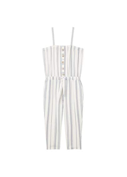 Violeta BY MANGO Striped long jumpsuit