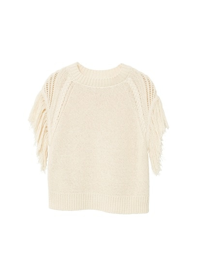 MANGO Fringed edges top