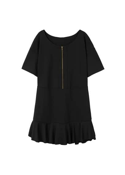 Violeta BY MANGO Fluted hem dress
