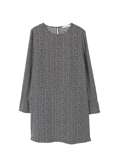 MANGO Ruched sleeve dress