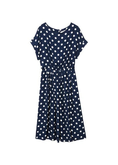 MANGO Polka dot midi dress