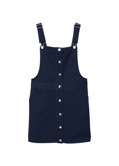 MANGO Short cotton pinafore dress
